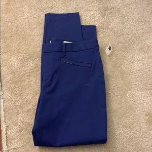 Purple-blue GAP slacks. NWT